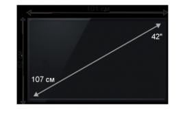 Плазменная/(LED) ЖК панель 42 дюйма (107 см)