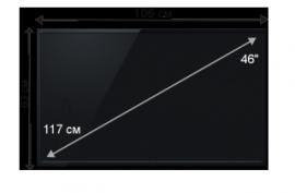 Аренда плазменных панелей (46 дюймов)