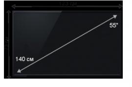 Плазменная/(LED) ЖК панель 55 дюймов (140 см)