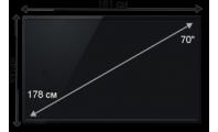 Плазменная (LED) ЖК панель 70 дюймов (178 см)
