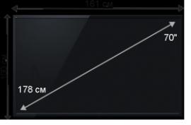 Плазменная/(LED) ЖК панель 70 дюймов (178 см)