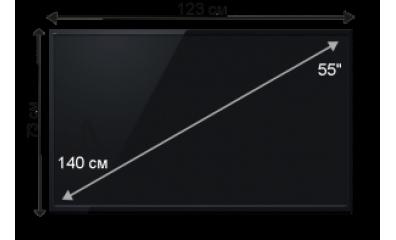 Плазменная (LED) ЖК панель 55 дюймов (140 см)