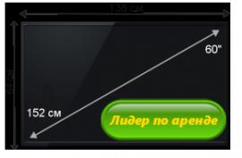 Плазменная/(LED) ЖК панель 60 дюймов (152 см)